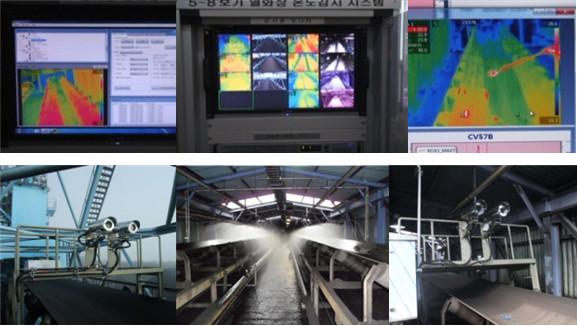 在线红外热像仪煤炭传输带监控系统的实拍图片